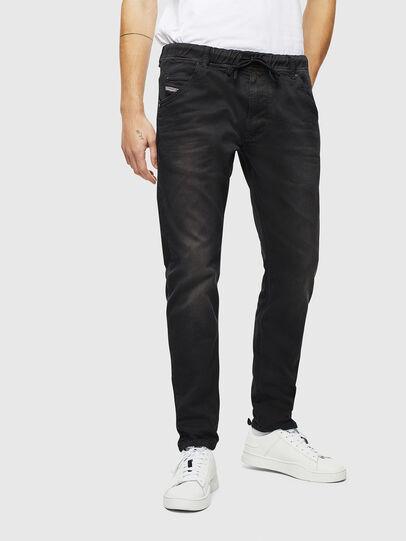 Diesel - Krooley JoggJeans 0670M, Schwarz/Dunkelgrau - Jeans - Image 1