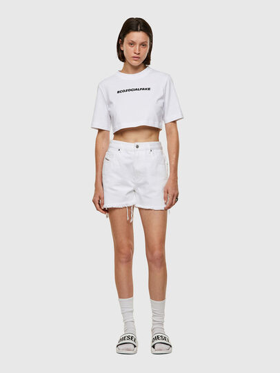 Diesel - T-RECROP, Bianco - T-Shirts - Image 4
