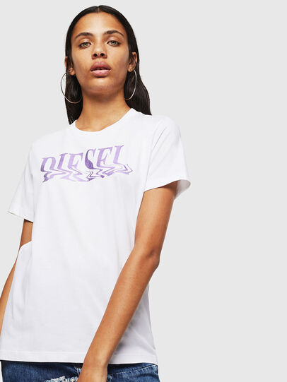 Diesel - T-SILY-WN, Weiß/Rosa - T-Shirts - Image 1