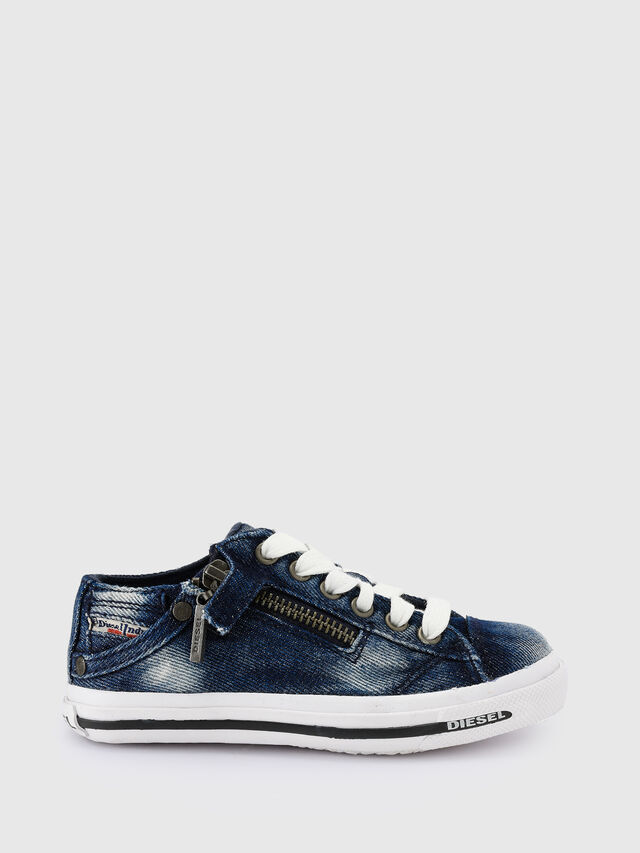 KIDS SN LOW 25 DENIM EXPO, Jeansblau - Schuhe - Image 1