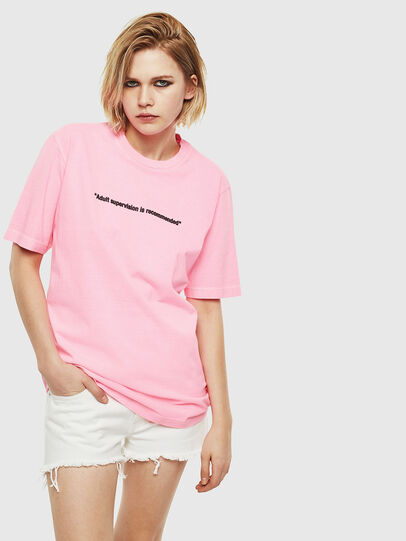 Diesel - T-JUST-NEON, Rosa - T-Shirts - Image 2