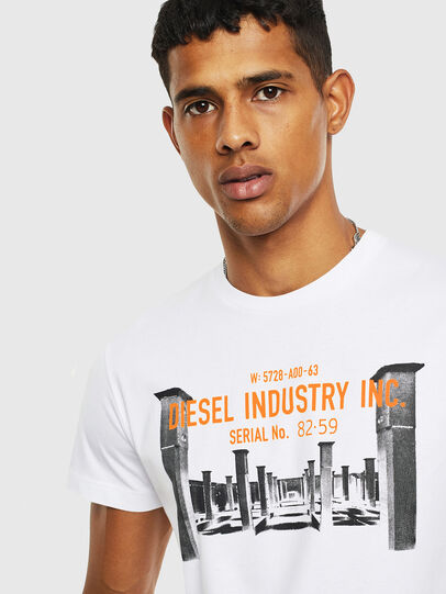 Diesel - T-DIEGO-S13, Weiß - T-Shirts - Image 3