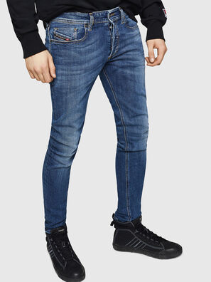 Sleenker 069FZ, Mittelblau - Jeans