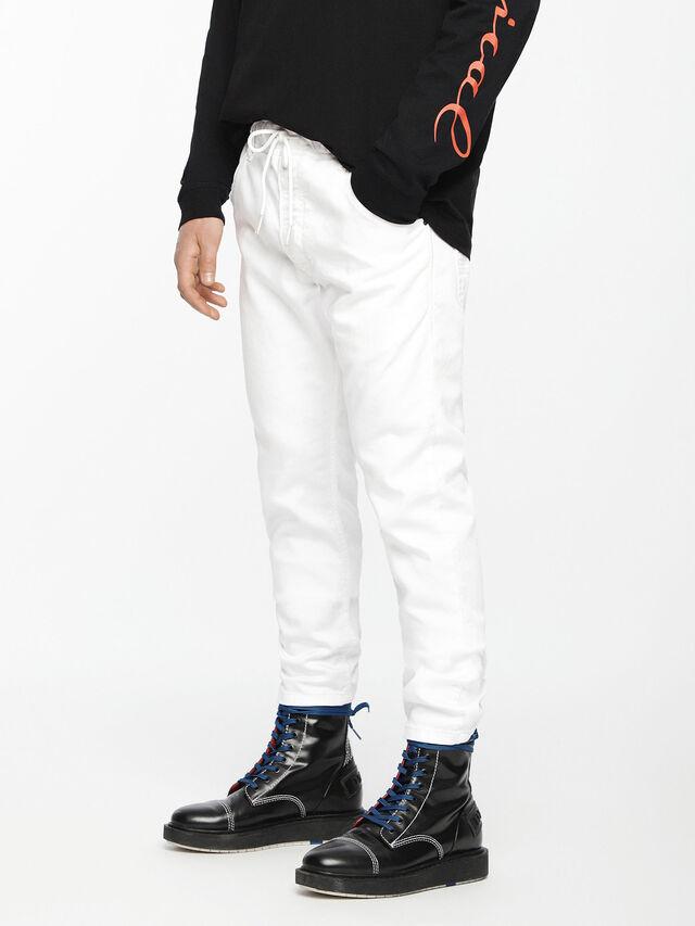 Diesel Krooley JoggJeans 0684U, Weiß - Jeans - Image 1