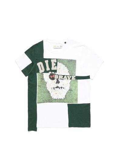 Diesel - D-FRANKENSTEIN 2.1, Weiß/Grün - T-Shirts - Image 1