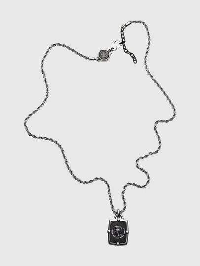 Diesel - DX1174, Silber/Schwarz - Halsketten - Image 1
