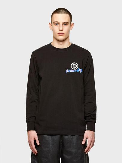 Diesel - T-JUST-LS-E1, Nero - T-Shirts - Image 1
