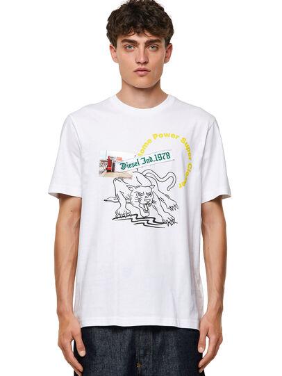 Diesel - T-JUST-B60, Weiß - T-Shirts - Image 1