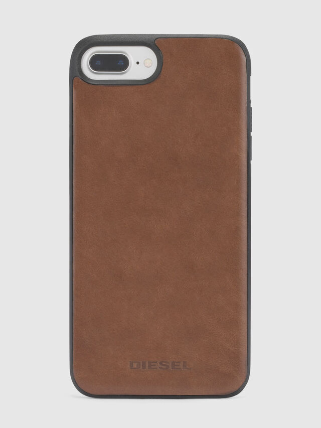 Diesel - BROWN LEATHER IPHONE 8 PLUS/7 PLUS/6s PLUS/6 PLUS CASE, Braun - Schutzhüllen - Image 3
