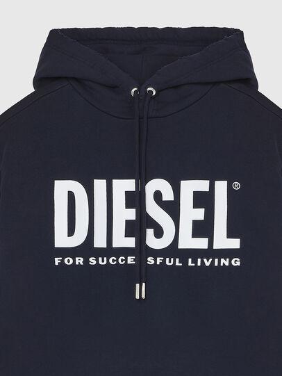 Diesel - S-GIR-HOOD-DIVISION-, Dunkelblau - Sweatshirts - Image 3