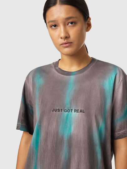 Diesel - T-JUST-B52, Rosa/Verde - T-Shirts - Image 6