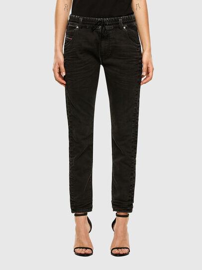 Diesel - Krailey JoggJeans 009FY, Schwarz/Dunkelgrau - Jeans - Image 1