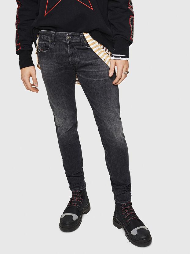 Sleenker 084AT, Schwarz/Dunkelgrau - Jeans