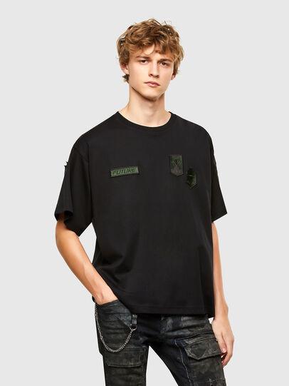 Diesel - T-CROLF, Schwarz - T-Shirts - Image 1