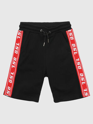 PHITOSHI, Schwarz/ Rot - Kurze Hosen