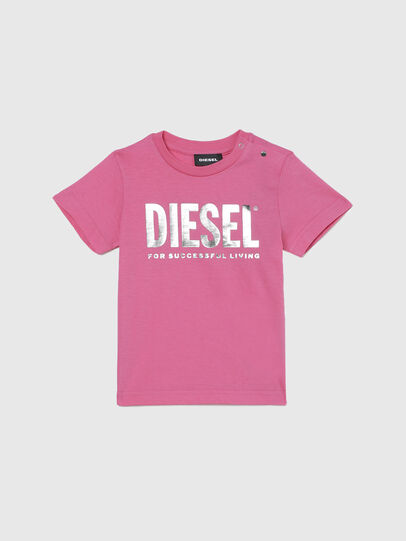 Diesel - TJUSTLOGOB-FL MC, Rose - T-shirts et Hauts - Image 1
