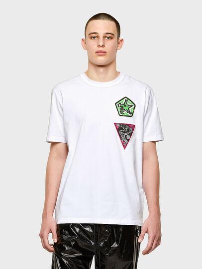 Diesel - T-JUBIND-SLITS-E1, Bianco - T-Shirts - Image 1