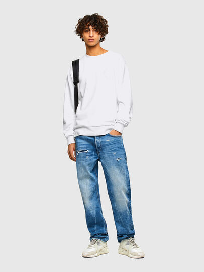 Diesel - S-GIRK-A73, Blanc - Pull Cotton - Image 5