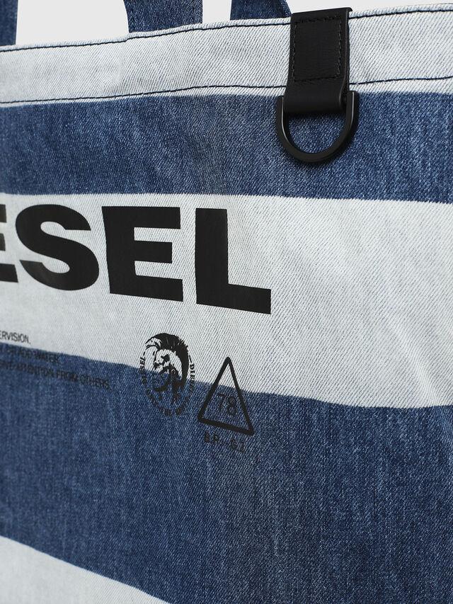 Diesel - F-THISBAG SHOPPER NS, Jeansblau - Shopper und Schultertaschen - Image 4