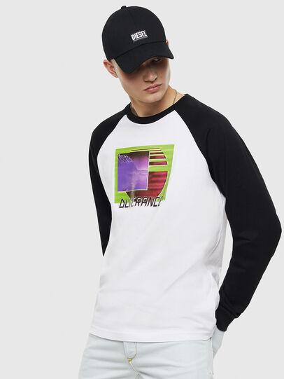 Diesel - T-RODDI, Weiß/Schwarz - T-Shirts - Image 1
