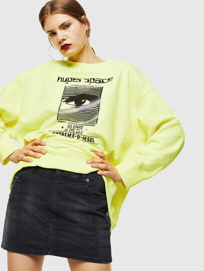Diesel - F-AKUA, Neongelb - Sweatshirts - Image 4