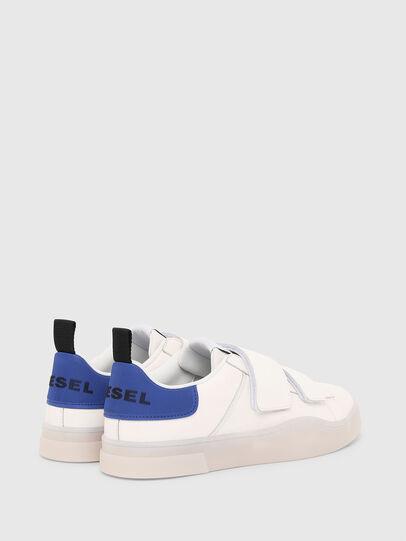 Diesel - S-CLEVER LOW STRAP, Weiß/Blau - Sneakers - Image 3