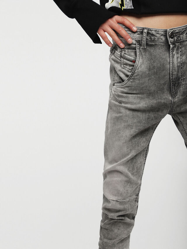Diesel - Fayza JoggJeans 0855B, Hellgrau - Jeans - Image 3