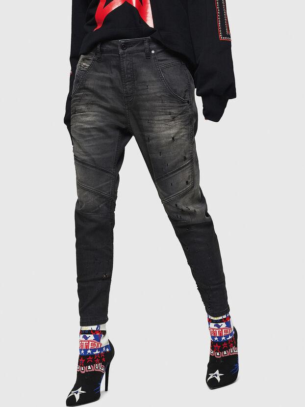 Fayza JoggJeans 069GN, Schwarz/Dunkelgrau - Jeans