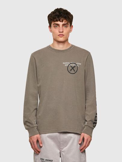 Diesel - T-JUBINDY-LS, Verde Oliva - T-Shirts - Image 1