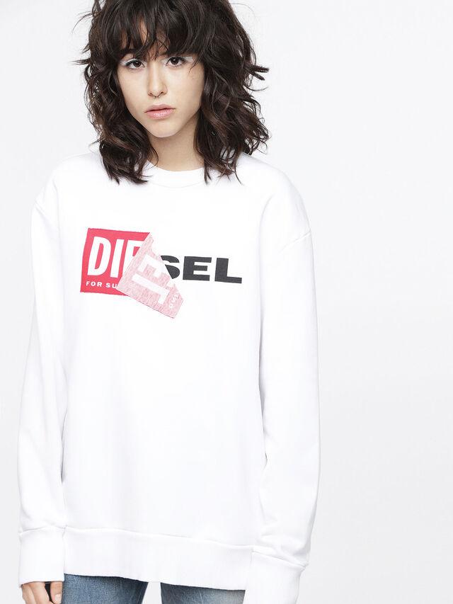 Diesel - F-SAMY-FL, Weiß - Sweatshirts - Image 1