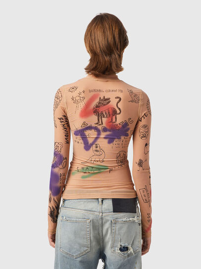 Diesel - T-SIELY, Rose Poudré - T-Shirts - Image 2