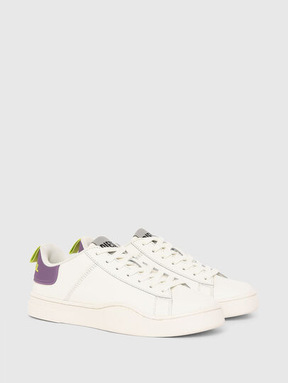 Diesel - S-CLEVER LOW LACE W, White/Violet - Sneakers - Image 2