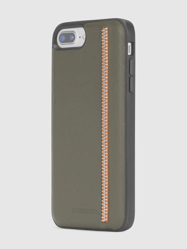 Diesel - ZIP OLIVE LEATHER IPHONE 8 PLUS/7 PLUS/6s PLUS/6 PLUS CASE, Olivgrün - Schutzhüllen - Image 3
