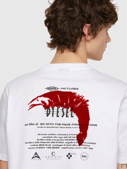 Diesel - T-JUST-E4, Weiß - T-Shirts - Image 3