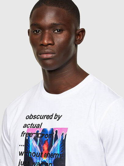 Diesel - T-JUST-A43, Bianco - T-Shirts - Image 3