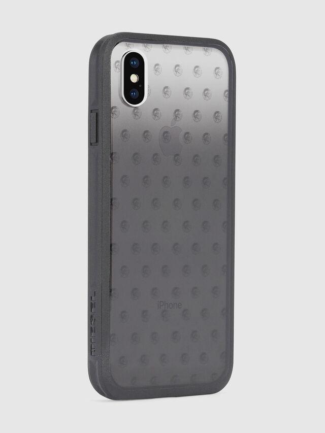 MOHICAN HEAD DOTS BLACK IPHONE X CASE, Schwarz/Grau