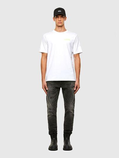 Diesel - T-JUST-SLITS-X84, Weiß - T-Shirts - Image 5