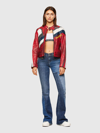 Diesel - L-POLLY, Rosso - Giacche di pelle - Image 6