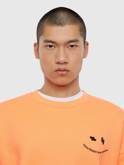 Diesel - S-MART-FLU, Orange - Sweatshirts - Image 3