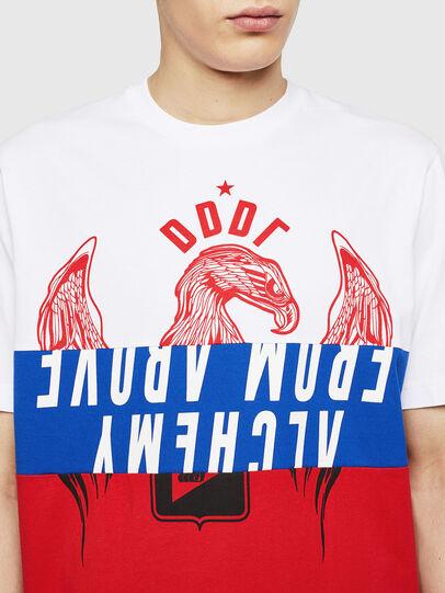 Diesel - T-JUST-A1, Weiß/Rot/Blau - T-Shirts - Image 3