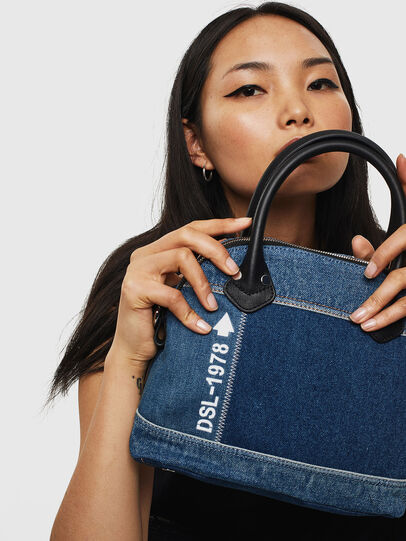Diesel - PYANIGA M, Jeansblau - Satchel Bags und Handtaschen - Image 6