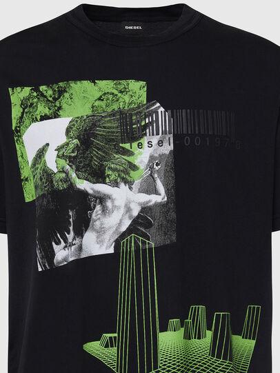 Diesel - T-JUBIND-SLITS, Schwarz - T-Shirts - Image 3