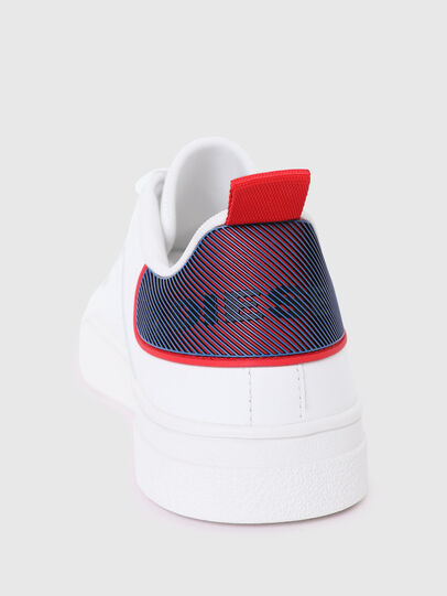 Diesel - S-CLEVER LOW LACE, Blanc/Rouge - Baskets - Image 4