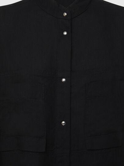 Diesel - D-SUPER-D, Noir - Robes - Image 6