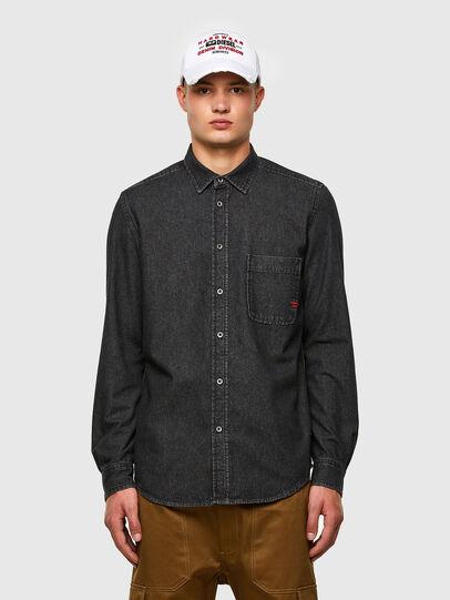 Diesel - D-BILLY, Noir - Chemises en Denim - Image 1