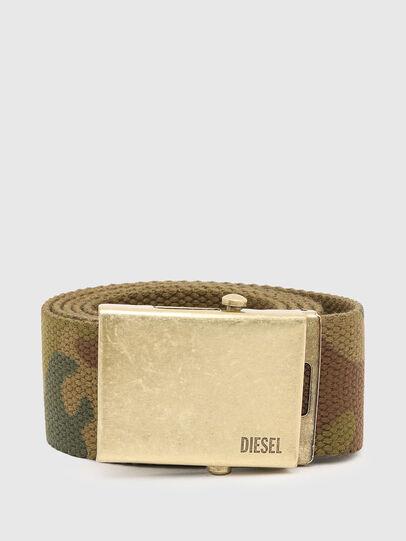 Diesel - B-COMBA, Vert Camouflage - Ceintures - Image 1