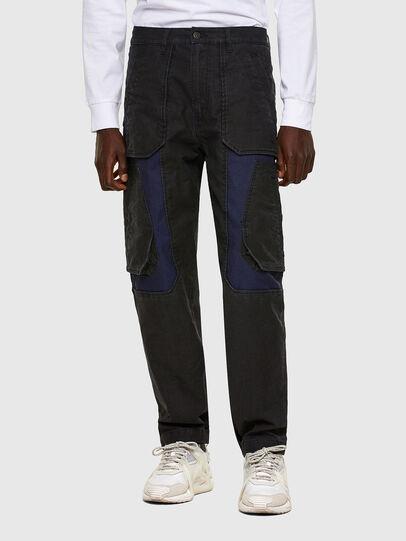 Diesel - D-Eluxerr JoggJeans® 0DDAV, Nero/Grigio scuro - Jeans - Image 1