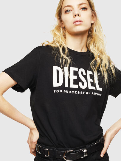 Diesel - T-DIEGO-LOGO, Schwarz - T-Shirts - Image 6