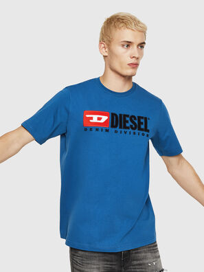 T-JUST-DIVISION, Blau - T-Shirts