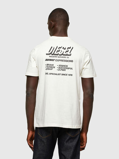 Diesel - T-JUST-A33, Bianco - T-Shirts - Image 2